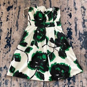 NWT The Limited Strapless Printed Floral Dress 4